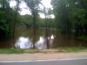 its flooded